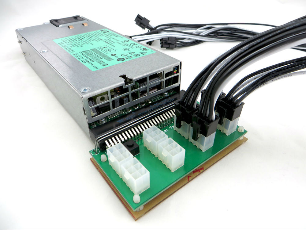 Gpu Mining Power Supply Kit Hp 1200 Watt Platinum 94 Eth