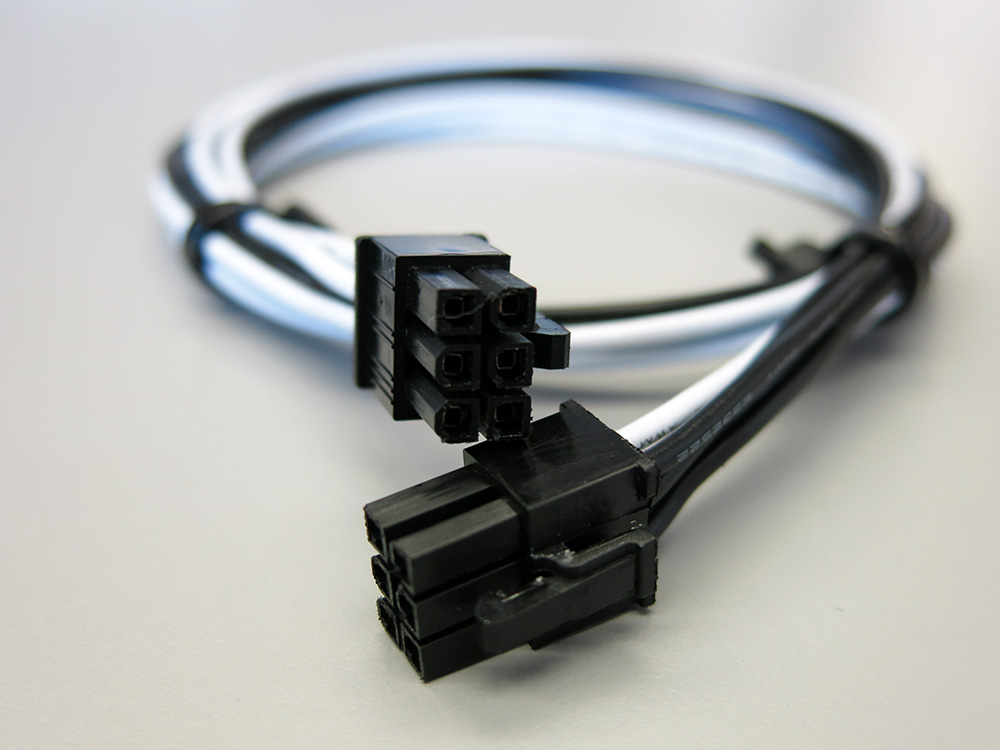 24 Inch 16awg 6 Pin Male To 6 Pin Male Pcie Power Cable