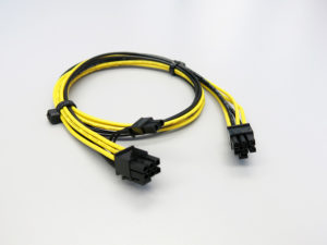 6pin to 8pin PCIe GPU power cord, long pcie cable