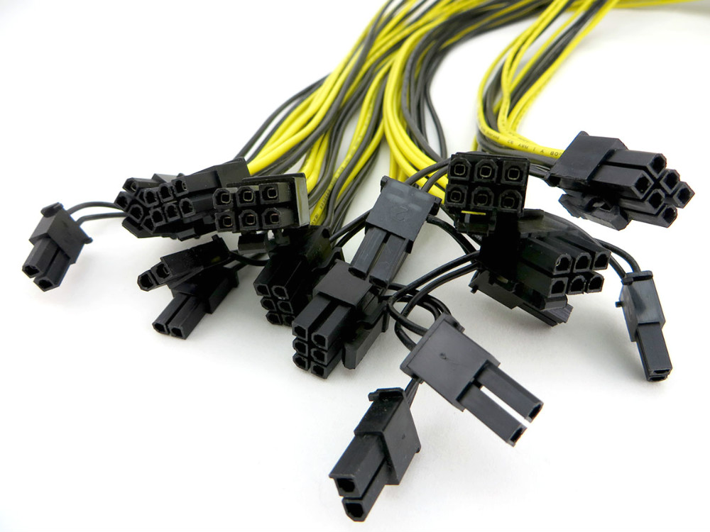 6pin to 8pin PCIe power cables for mining cryptocurrency