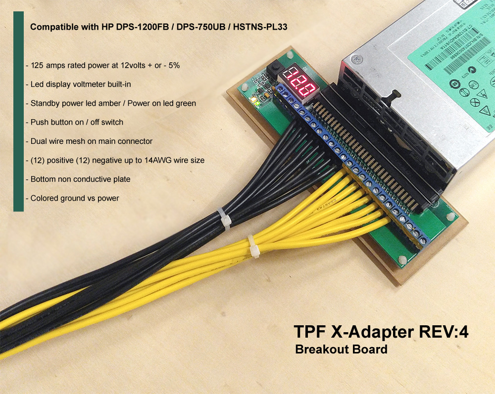 Server PSU with breakout board AND PCIE cables HP
