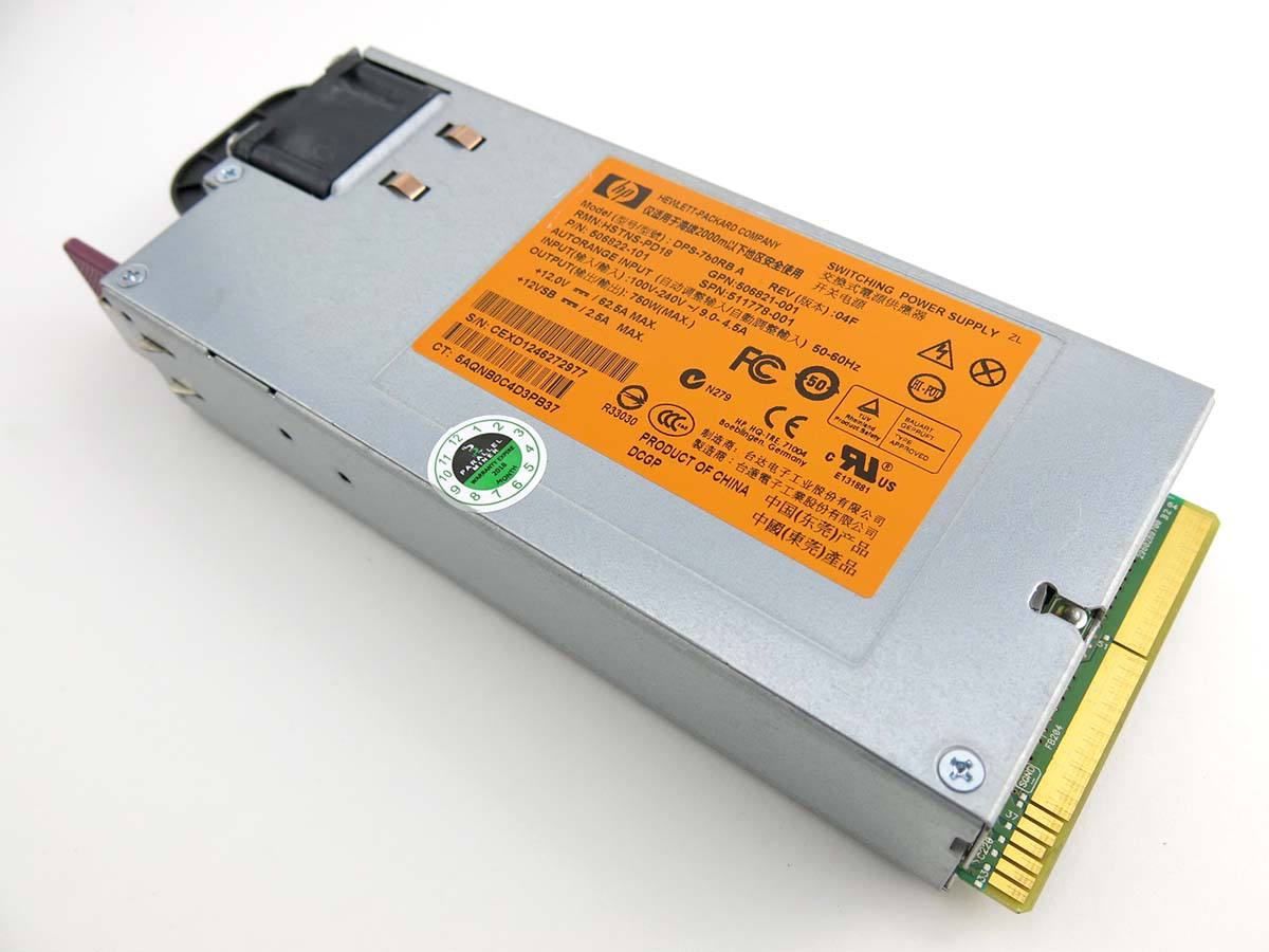 HP 750w 92% Efficiency 80+ Gold Rated Server Power Supply HSTNS-PD18  HSTNS-PL18