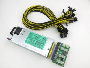 GPU Video Card Mining Power Supply Kit