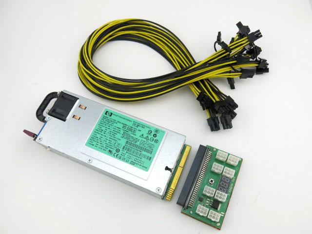 HP 1200 Watt Power Supply Kit for GPU Mining Platinum 94% - ZEC ...