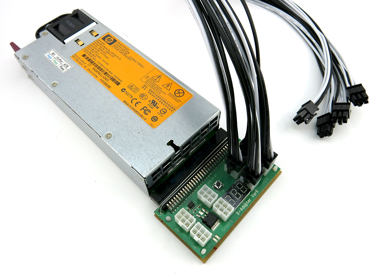 Power Supplies Product : Hp w power supply pci e awg psu kit for antminer