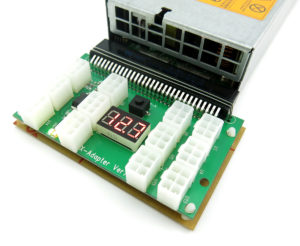 12 PCIe Port Server Power Supply Common Slot Adapter Breakout Board