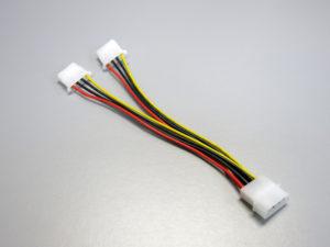 4pin molex splitter cable to dual 4pin molex