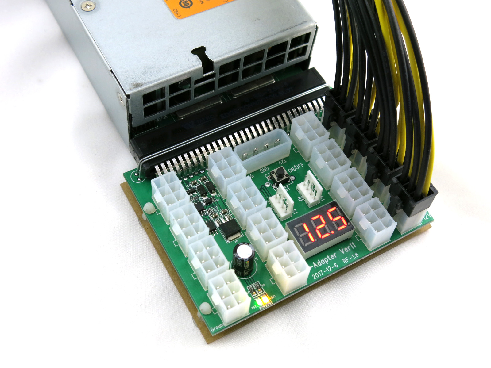 X11 power supply adapter with 8pin PCIe power cables for GPU mining