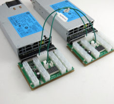 Dual fault protection cable connected to two X11 breakout boards - link power supplies together