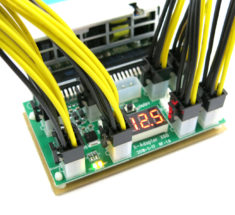 X6B power supply adapter with 6pin PCIe power cables for ASIC and GPU mining; for mining bitcoin power supply