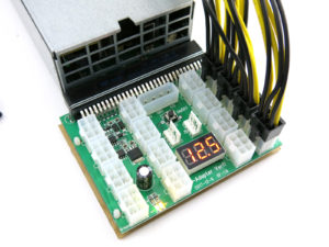 X11 power supply adapter with 8pin PCIe power cables for ASIC or GPU mining