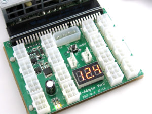 X11 power supply adapter with LED voltage meter