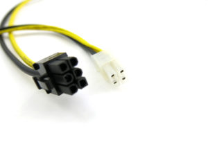 KT-6PCIEM-4PATXM 6 Pin PCIE to 4 Pin ATX 12 Volt Power Cable