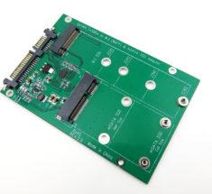 Universal M.2 (NGFF) & mSATA SSD 3.0 Solid State Drive To SATA Interface Adapter Converter