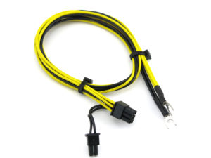 PCIe to Ma8(6+2) Pin PCIe to Male Fork Spade Cablele Fork Spade Cable