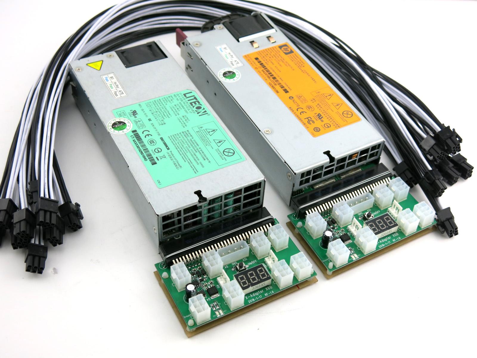 Innosilicon S11 Power Supply 1850 Watt 1100+750 110-240V ASIC Miner PSU 92/%