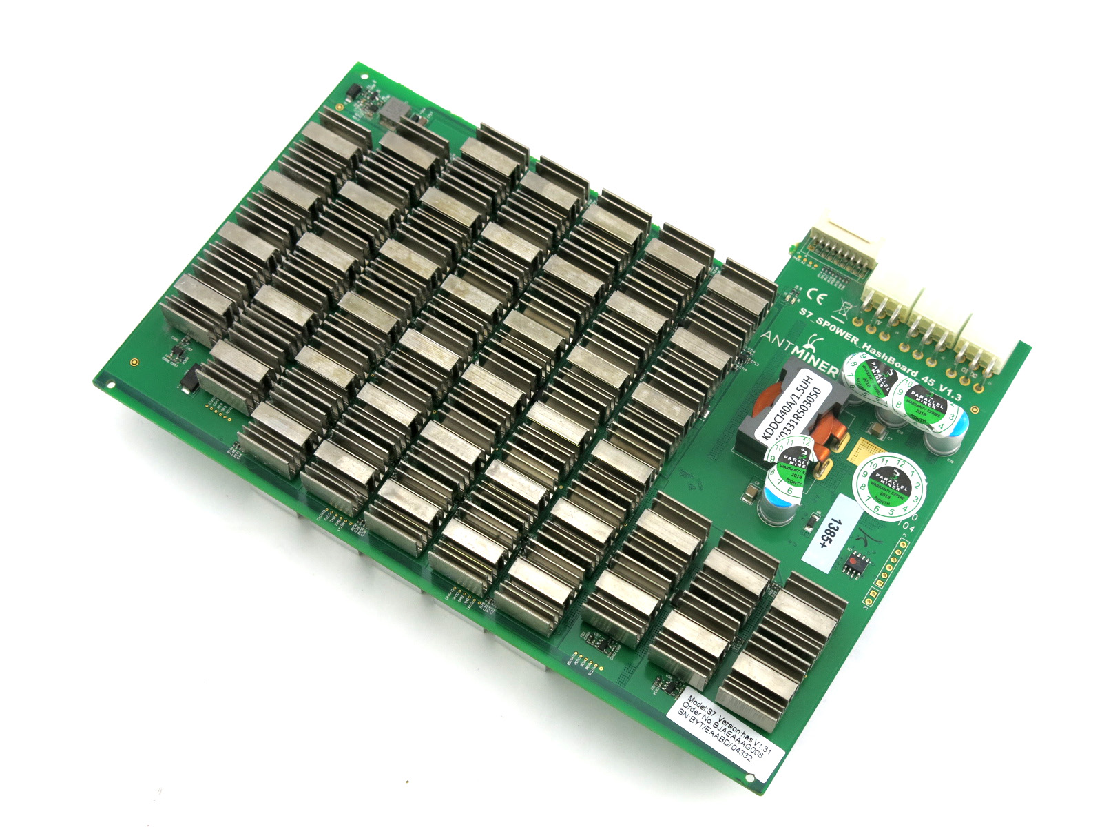 Bitmain Antminer S7 Replacement ASIC Hashing Hash Board 45 Chip Ver 1 31 or  1 32 - Tested at 600 MHz 1 2 TH/s 1200 GH/s
