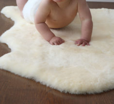 Auskin Shorn Lambskin Infant Care Baby Rug