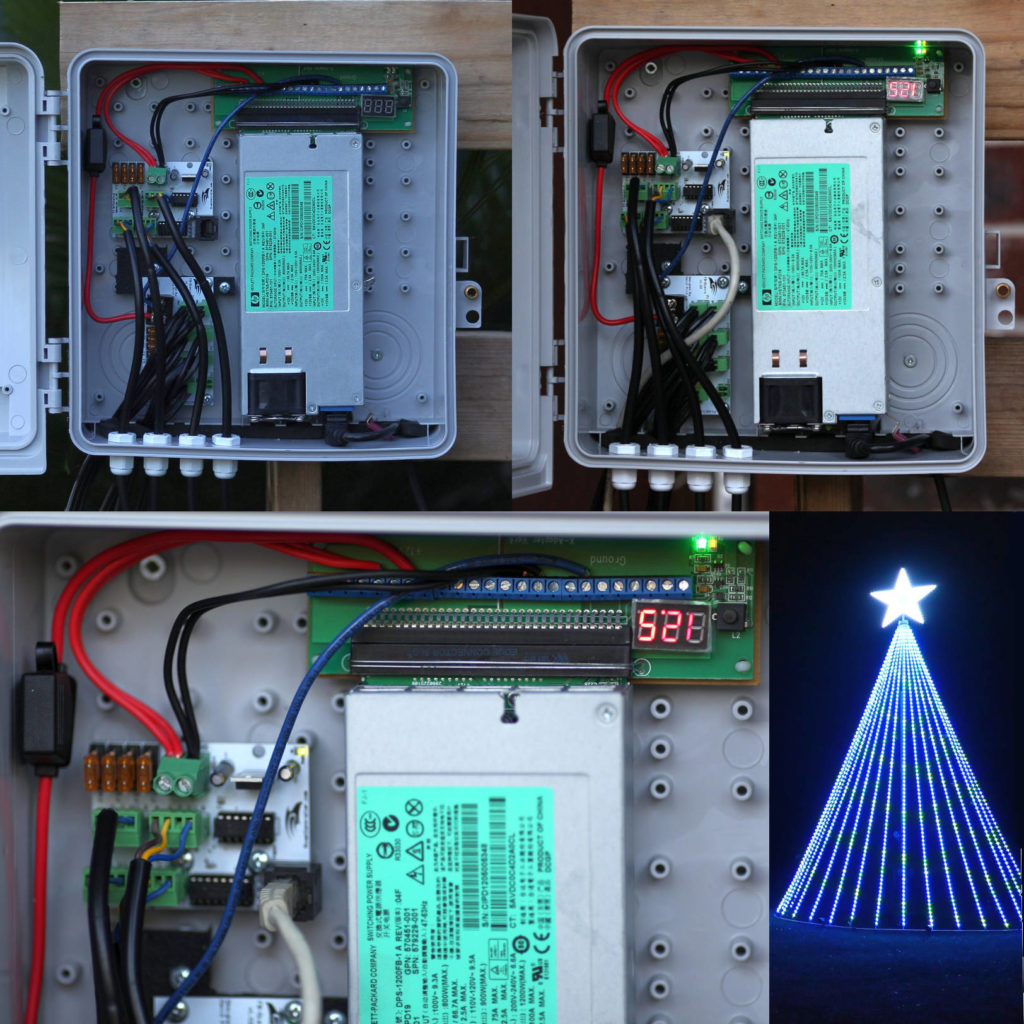 BKR4X Breakout Board with Server Power Supply to Power Giant Christmas Light Display