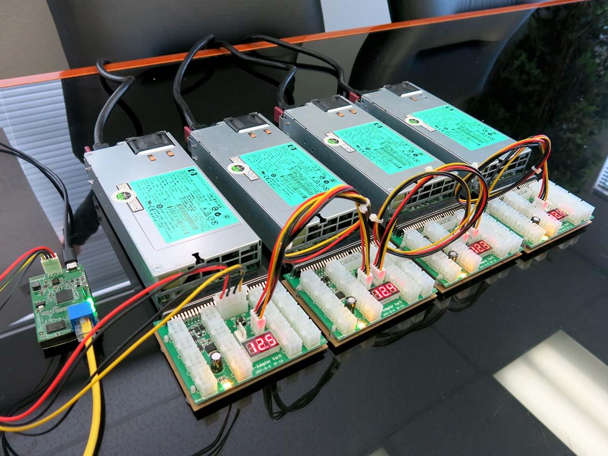 Remote Managed 3600/4800W 110-240v Platinum HP Mining Power Supply Kit